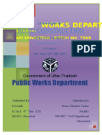 PUBLIC WORKS DEPARTMENT PROJECT REPORT