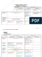Final Examination Schedule Master by Course Semester I 2014-15
