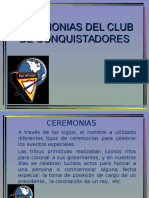 Ceremonias Club de Conquistadores