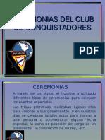 Ceremonias Club de Conquistadores
