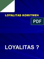 Loyalitas Komitmen