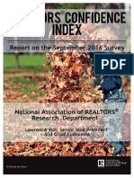 REALTORS® Confidence Index September 2016