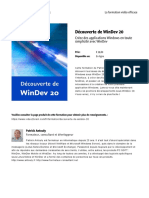 Decouverte de Windev 20 fr