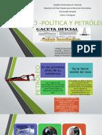 1 Estado -Política y Petróleo