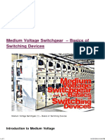 Medium Voltage Switchgear - Basics of Switching Devices