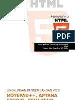 Pertemuan 2 - HTML