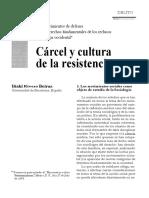Carcel y cultura de la resistencia