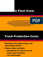 13 Truck Fleet Costs