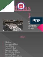 Presentation on Ballast