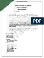 Estructura de datos Pilas (Resolución de Examen)
