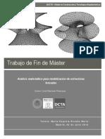 Analisis Matematico Para Modelizacion de Estructuras Tensadas