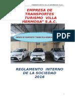 Reglamento Interno de Empresa de Transportes
