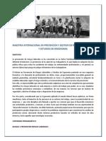 Prevencion y Gestion de Riesgos Laborales y Estudios de Ergonomia Pulse Aqui Para Conocer Los Objetivos y Contenido Programatico de La Maestria Internacional
