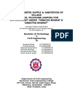 REPORT ON WATER SUPPLY & SANITATION OF VILLAGE
