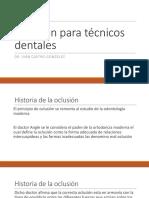 Oclusión Para Técnicos Dentales