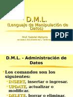 DML - lenguaje de manipulación de datos