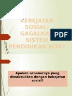 Forum - Kebejatan Sosial, Gagalkah Sisitem Pendidikan Kita?