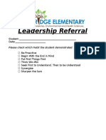 leadership referral
