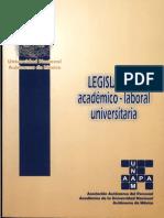 Legislacion Académica Laboral UNAM