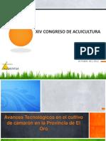 Avance Tecnológicos en El Cultivo de Camarón en La Provincia de El Oro (Ing. Miguel Aguilar Coello)