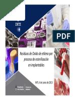 3 Residuos Oxido Etileno Proceso Esterilizacion Productos Implantables