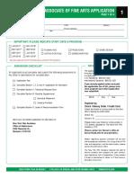 AFA Application Form