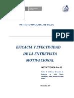 13.Eficacia y Efectividad de La Entrevista Motivacional