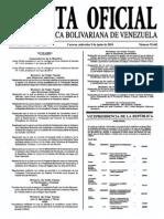 Sumario Gaceta Oficial 39.442