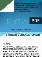 Kebijakan Dan Peraturan Jurnal