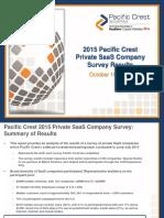 2015 Pacific Crest SaaS Survey 10.16.15 2