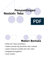 Teknik Peyuntingan