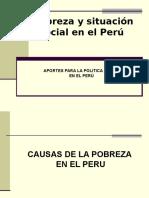 Pobreza y Situacion Social en El Peru