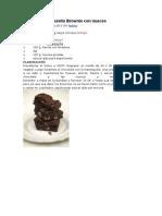 Receta Brownie Con Nueces
