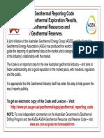 AGEG-AGEA Geothermal Reporting Code