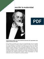Lyotard Reescribir La Modernidad