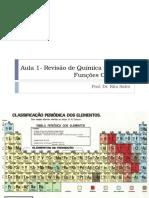 Aula 1 - Revisão de Química Orgânica - Funções