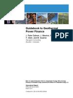Guidebook Geothermal Power Finance-NREL2011