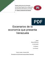 Muñoz Willennys Escenarios de la Economía que presenta Venezuela