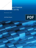 2013 Business Expense Benchmark Survey by Citi Prime