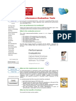 Performance Evaluation Test 101