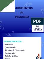 Aula 10 -Instrumentos de Pesquisas