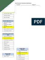 student-teacher class evaluation
