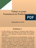 Problemas Simplex