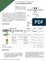Elecciones Estatales de Puebla de 2016 - Wikipedia, La Enciclopedia Libre