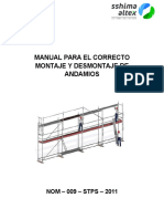 Manual Para El Correcto Montaje y Desmontaje de Andamios