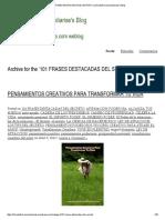 101 FRASES DESTACADAS DEL SECRETO _ Librodeafirmacionesdiarias's Blog
