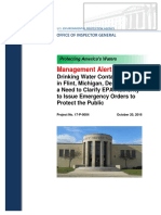 Inspector General Report on Flint Water