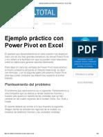 Ejemplo Práctico Con Power Pivot en Excel - Excel Total