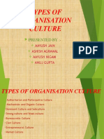 Types of Organization Culture-