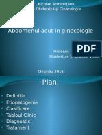 abdomenul acut Ginecologic